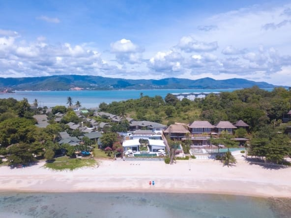 Beach front villa for sale koh samui